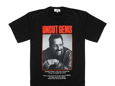 Uncut Gems Shirt cover font type experiment merchandise merch shirt illustration simple design