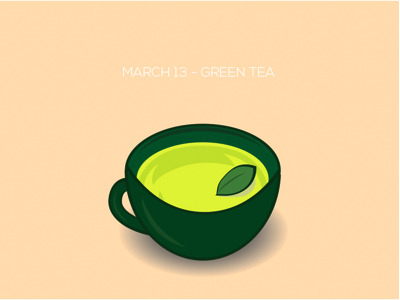 Calm me down with some green tea.