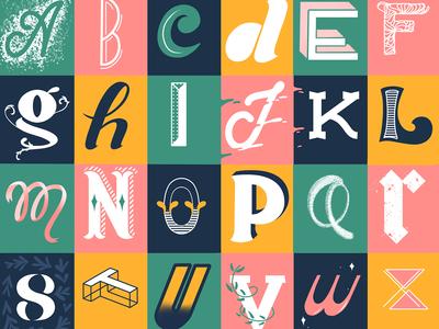 Alphabet styles