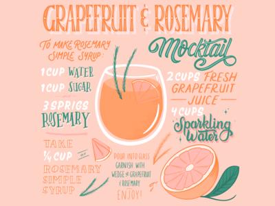 Grapefruit & Rosemary Mocktail