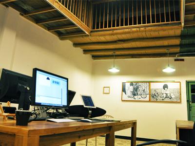 Studio studio office workspace tool space desk table work design building ios