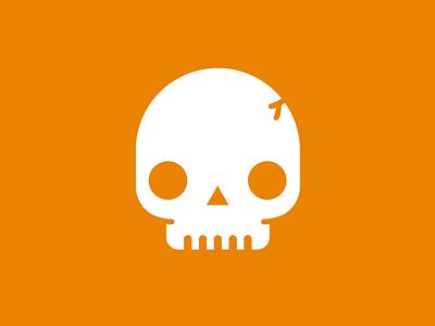 Skull svg icon ux ui work logo orange skull