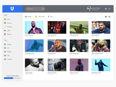 Dropbox UI Redesign