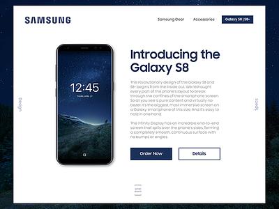 Samsung Store UI redesign sketch s8 samsung ux ui