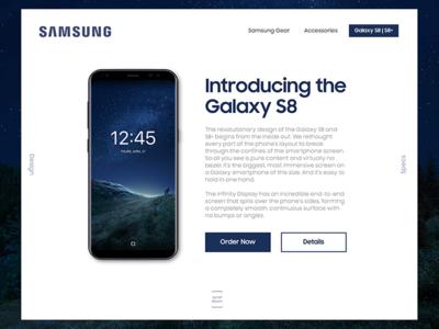 Samsung Store UI redesign