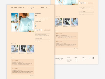 Seven August Redesign french clothing brand unsolicited redesign redesign minimal ui branding
