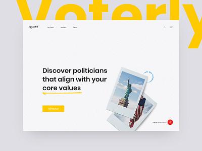 More Voterly Concepts web design interaction animation web design ux ui united states usa america politician voterly vote politics