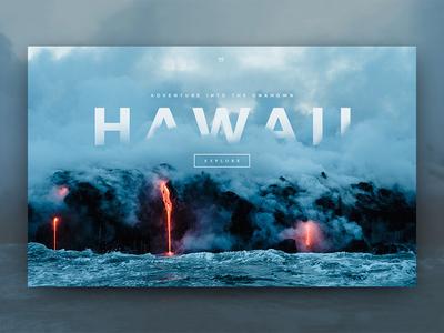 Ha-va-ee design web volcano lava ux ui hawaii