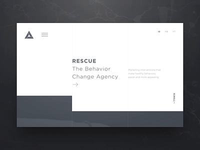 Rescue Concept icon typography branding vector illustration challenge digital portfolio video california web design gif agency interaction animation photography web design ux ui