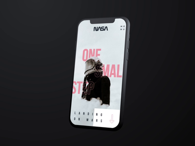 NASA concept iphone mobile nasa typography 30 day challenge digital portfolio video california web design gif agency interaction animation photography web design ux ui
