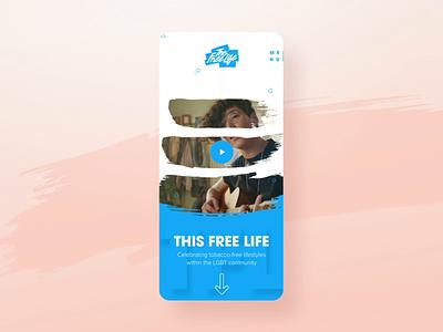 This Free Life Redesign vector illustration branding typography 30 day challenge digital portfolio video california web design gif agency interaction animation photography web design ux ui