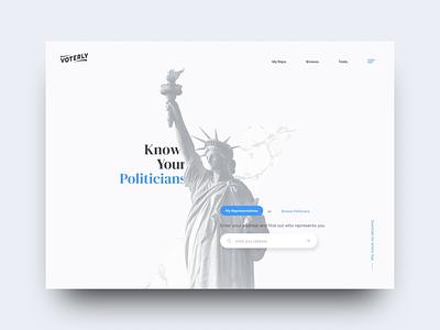 Voting App Concept app political politics typography logo branding portfolio california web design agency interaction animation photography web design ux ui
