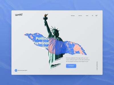 Voterly Branding Concepts california web design agency interaction animation photography web design ux ui
