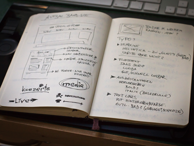 first thoughts and rough wireframing