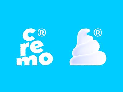 """""""cremo"""" Logotype & mark icecream vector branding design creative design cremo logotype mark"""