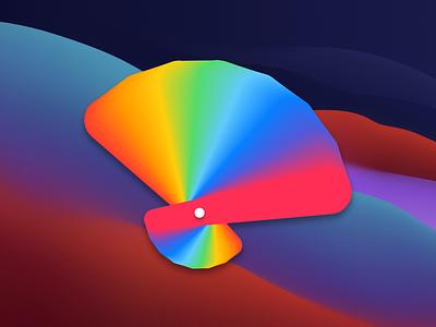 """""""Color ninja"""" macOS app icon concept illustration vector branding ui design pallete color macos icon app icon icon"""