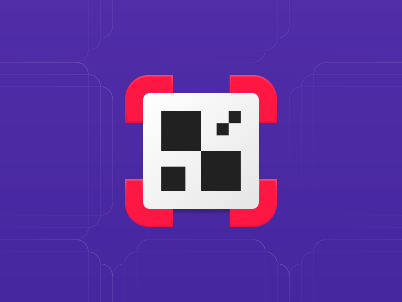 QR code scaner android app icon by Arthur Bauer on Dribbble