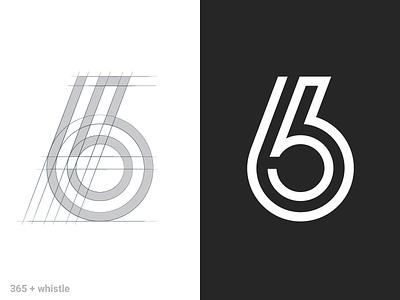 365+whistle mark symbol logo grid football whistle 365