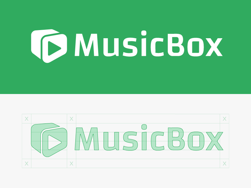 Music Box windows10 icon logo play grid perspective box music
