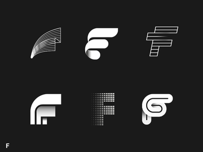Alphabet project F vol.1 fork meat monogram  symbol  typography mark logotype logo letterform letter lettermark f