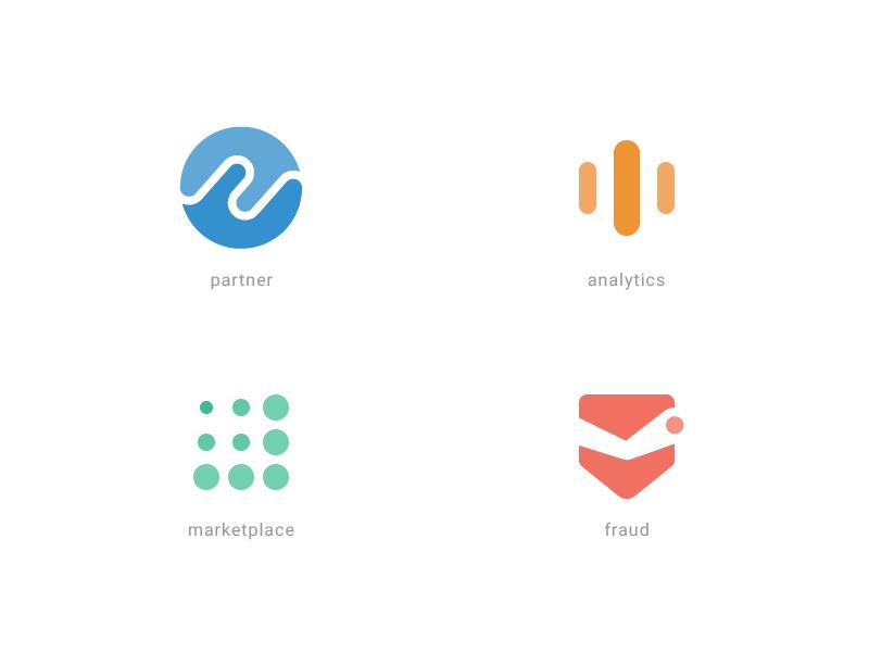 icons  for Impact Radius ui category icons fraud marketplace analytics partner
