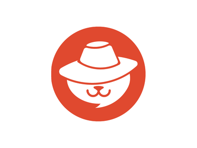 Yolo - anonymous chat logo android icon cat hat anonymous chat bubble app icon ios icon hide