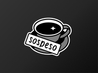 "old school sticker ""Caffe sospeso"""