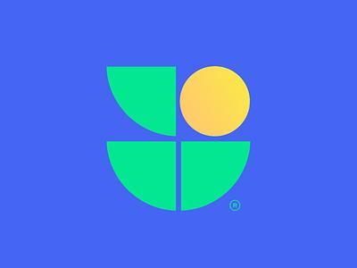 logo for mlogic soft module dandelion mark symbol design logo mlogic soft