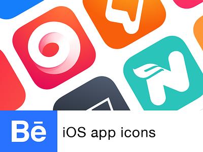 iOS app Icons   Behance project ios app icon icon ios ui ui design behance icon project