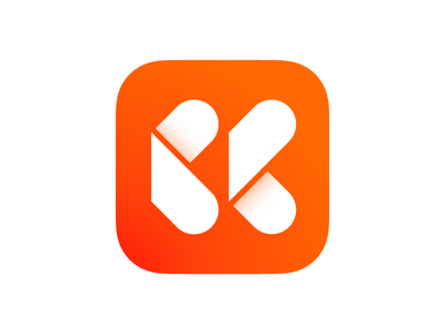 Tikkr iOS app icon app hand clock tracker logo app icon icon time ios