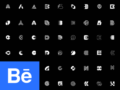 alphabet project part 1 letterform logotype vector illustration icon typography mark symbol design branding letter h g f e d c b a logo