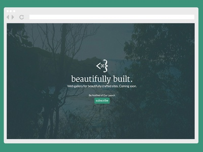 Beautifully Built coming soon page