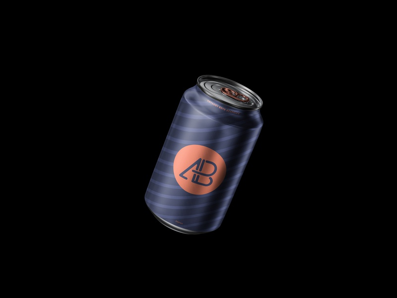 Floating Can Mockup floating beer soda can branding freebie showcase psd free mockup