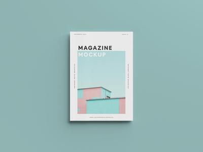 Top View Magazine Mockup