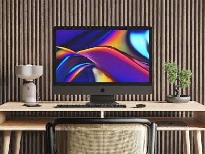 iMac Pro Mockup desktop computer realistic apple freebie psd free mockup imac pro