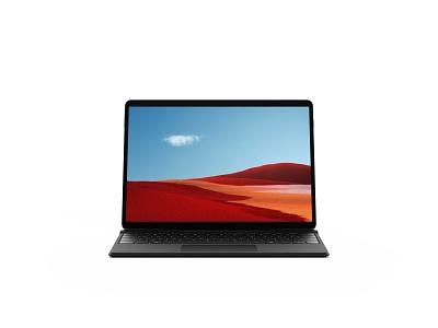 Microsoft Surface Pro X Mockup freebie showcase psd free mockup tablet laptop surface microsoft