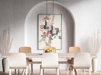 Modern Poster Mockup #12 modern realistic interior poster showcase psd free mockup