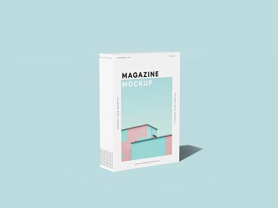 Standing Stacked Magazines Mockup template magazine freebie showcase psd free mockup
