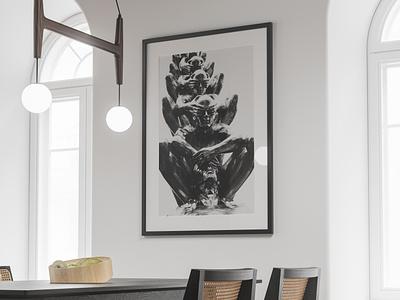 Modern Poster Mockup #18 interior poster mockups realistic freebie showcase psd free mockup