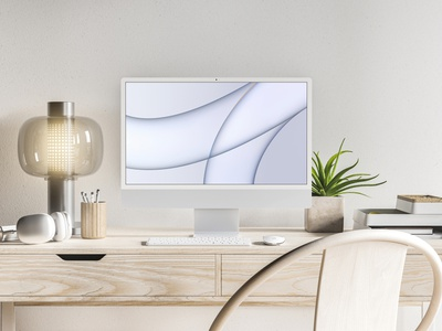 2021 iMac Mockup all in one desktop modern realistic freebie showcase psd free mockup imac apple
