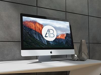 Realistic 5k Imac Mockup premium freebie free apple mockup imac 5k realistic