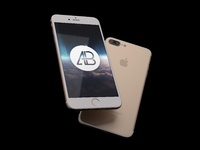 Realistic iphone 7 plus mockup pack   anthony boyd  gold