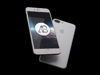 Realistic iphone 7 plus mockup pack   anthony boyd  silver