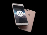 Realistic iphone 7 plus mockup pack   anthony boyd  rose gold