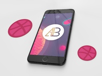 Realistic iphone 7 plus mockup pack vol.2   anthony boyd jet black
