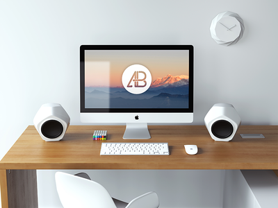 Realistic 5k iMac Mockup Vol.3 photoshop free freebie desktop retina psd mockup realistic 5k imac apple