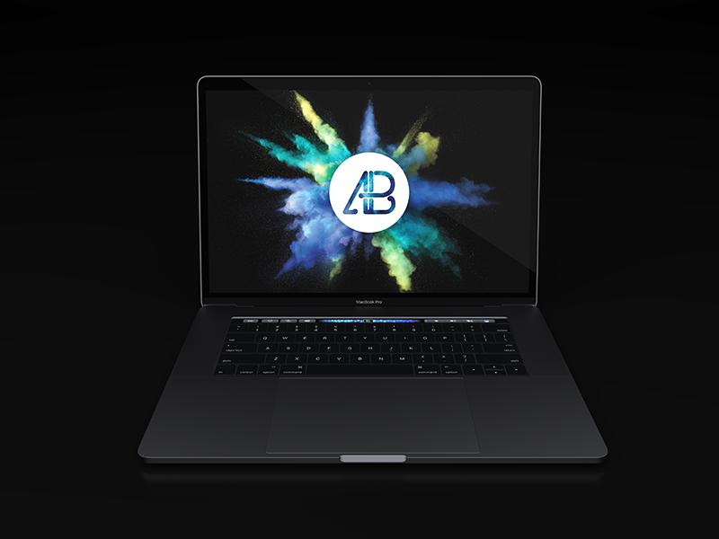 Realistic 2016 Space Grey Macbook Pro Mockup mac free psd psd freebiemacbook pro touchbar free mockup realistic laptop macbook pro 2016 macbook pro macbook apple