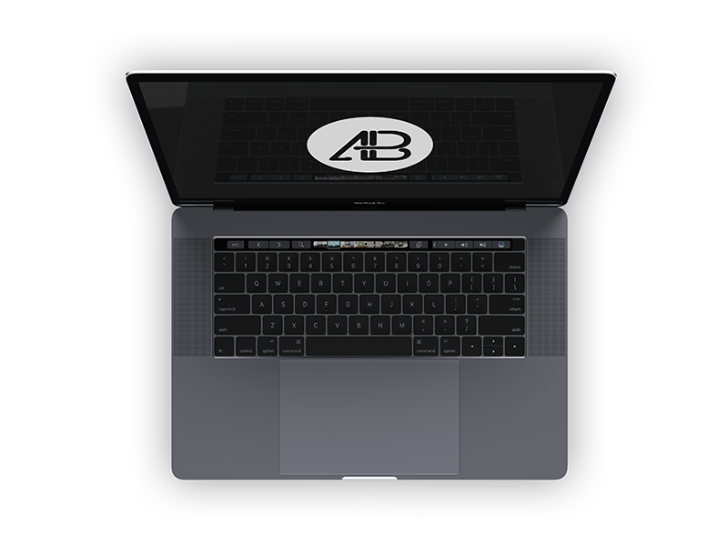 Realistic 2016 Space Gray MacBook Pro Mockup Vol.4 template psd freebie free premium realistic computer macbook mac apple