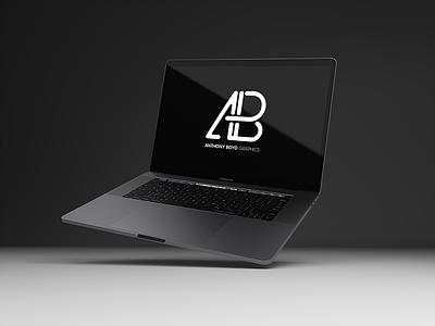 Realistic 2016 Space Gray MacBook Pro Mockup Vol.8 showcase branding realistic free screen computer laptop mockup macbook apple