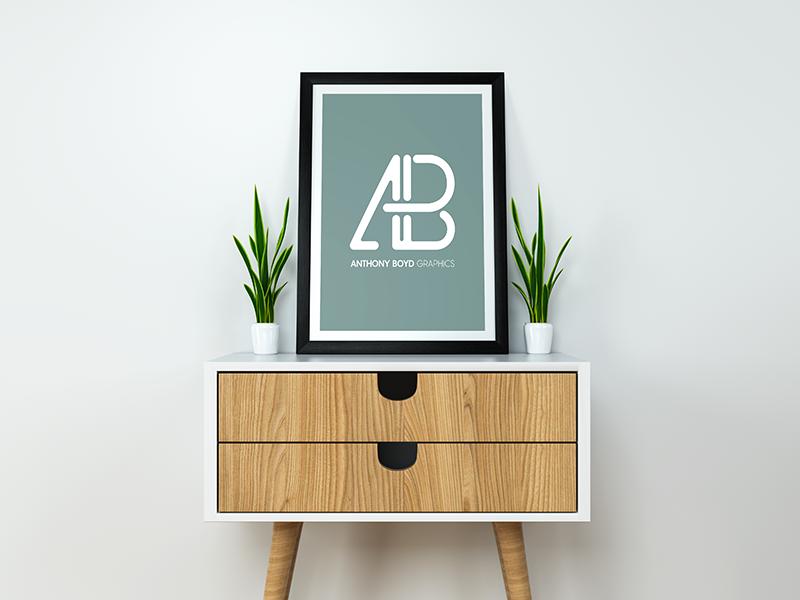 Modern Poster Mockup PSD showcase realistic minimal free mockups psd mockup poster modern